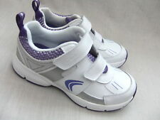 NEW CICA by CLARKS FLUENCY SPEED WHITE / PURPLE GIRLS TRAINERS SIZE 11.5 F