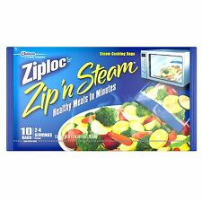 Ziploc Steam Cooking Bags - Medium, 10-Count - (Pack of 12) USA