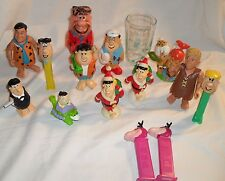 The Flintstones Vintage Lot 15 pc. Toys Collection PEZ Fred Barney Dino Pebbles