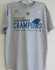 NFL Carolina Panthers Gray 2015 Conference Champions Locker Room Tee Shirt