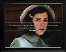 """Anne Frank Photo Picture, Poster or Framed Famous Quote """"How Wonderful It Is.."""""""
