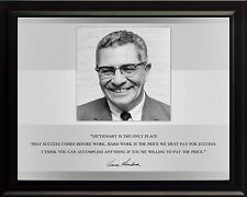 "Vince Lombardi Photo Picture, Poster or Framed Famous Quote ""Dictionary Is.."""