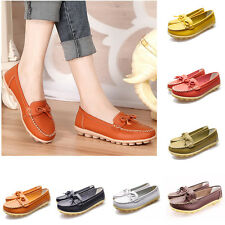 Women's Oxfords Leather Shoes Ballet Loafers Boat Flats Comfortable Casual New