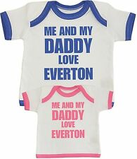BabyPrem Baby Clothes Boys Girls Unisex Me & Dad Love EVERTON T-shirt Top to 24m