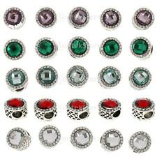 5pcs Antique Circle Spacer Charms Large Hole Beads Supplies DIY Jewelry Makings