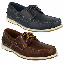 MENS CLARKS FULMEN ROW CASUAL LACE UP SMART MOCCASINS LEATHER DECK BOAT SHOES