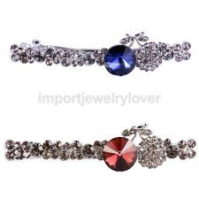 Girls Crystal Sapphire Ruby Hair Clip Barrette Clamp Bride Accessory Gift
