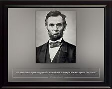 """Abraham Lincoln Photo Picture, Poster or Framed Famous Quote """"The time comes"""""""