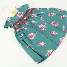 JOHN LEWIS Baby Girls Green Floral Special Occasion Dress 0-3-6-9 m UK NWT