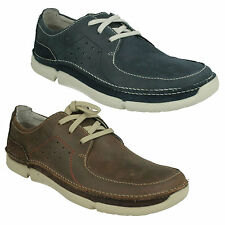 MENS CLARKS TRIKEYON FLY LEATHER LACE UP ROUND TOE CASUAL TRAINERS FORMAL SHOES