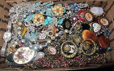 HUGE VINTAGE TO NOW ESTATE FIND JEWELRY LOT JUNK DRAWER UNSEARCHED UNTESTED #C49