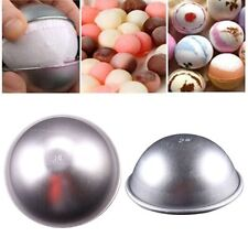 Sphere Bath 3D Aluminum Ball Cake Pastry Mould Bomb Mold Pan Tin Baking
