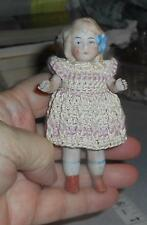Antique Detailed Bisque Doll - Handmade Dress - Dollhouse - Marked  - Germany