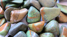 *THREE* Fancy Jasper Tumbled Stone 30mm QTY3 Healing Crystal Shaman Protection