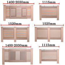 Traditional Radiator Cabinet Cover shelf MDF Wood Unfinished S L Adjustable