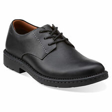 Clarks STRATTON WAY Mens Black Leather 02520 Comfort Lace Up Dress Oxford Shoes