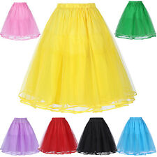 White Wedding Dress Bridal A-Line Petticoat Underskirt Crinoline Party 8 Colors