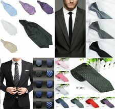 Multi-Style Men SKINNY TIE Wedding Slim Necktie Formal Casual Narrow Party Solid