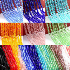 20-100Pc Rondelle Faceted Crystal Glass Loose Spacer Bead Jewelry Crafts 4-10MM