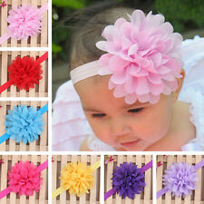New Kids Baby Girls Toddler Lace Flower Headband Hair Band Headwear Colorful