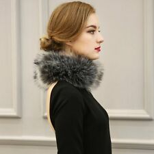 Women Fashion Faux Fox Fur Collar Scarf Shawl Stole Furry Neck Wrap Circles HOT