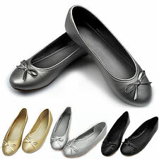 Fashion Casual Women Leather Ballet Flats Shoe Slip On Boat Loafers Single Shoes