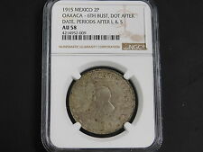 1915 Mexico 2P Oaxaca-6th Bust, Dot After Date, Periods After L&S! NGC- AU58   (