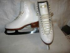 Womans sz 6  2A  RIEDELL white figure   ice skates