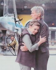 CARRIE FISHER HARRISON FORD HAND signed Autographed 8X10 photo w/COA STAR WARS!