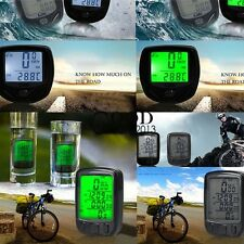 WIRELESS WATERPROOF BICYCLE BIKE CYCLE COMPUTER SPEEDOMETER ODOMETER BACKLIGHT T