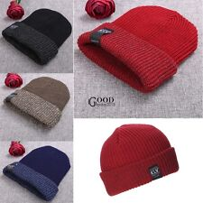 New Unisex Beanie Double Cuffed casual Hat Women Men Fashion Stretch Knit TXGT