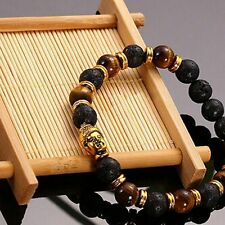Charming Lava Stone Bracelet Bangle Rock Elastic Bracelet Buddha Beaded