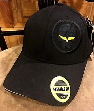 """CORVETTE RACING Unique """"Jake Skull"""" BLACK FITTED CAP, S/M Size, FREE SHIPPING!"""