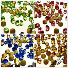 SS16 (3.8mm) Rhinestones Pointback Crystal Glass Strass Chaton Nail Art 1440ps