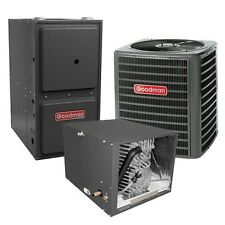 1.5 Ton 13 SEER 96% AFUE 2 Stage Gas Furnace, Air Conditioner System, Horizontal