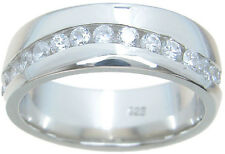 Mens Sterling Silver Wedding Band Ring