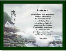 Grandpa Grandfather Personalized Poem Gift For Birthday