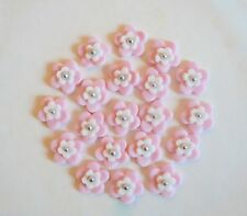 20 Edible Flowers Pink Red Cake Topper Birthday Decoration Icing Celebration
