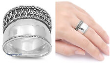 Sterling Silver 925 PRETTY HANDMADE BALI ROPE DESIGN BAND RING SIZES 6-12