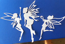 12 Fairy Princess CARD TOPPER die cut out frozen birthday girl party invitation