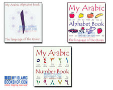 My Arabic Alphabet & Number Book Muslim Children Quran Language Board Books Gift