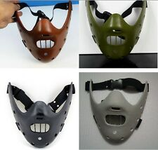 The Silence of the Lambs Hannibal Lecter Mask Film Masquerade coffee black green