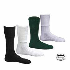 New Men's Scottish Highland Wear Kilt Hose Socks s/M/L/XL 4 COLOURS