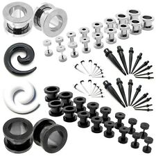 2 Set Flesh Tunnel Ear Plug Piercing/ Taper Expander Stretcher/ Spirals 1,6-10mm