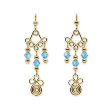 Dangle Attachment or Earrings - Gold or Silver with Swarovski Crystals #028
