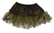 12 inch Camouflage Soldier Cyber Tutu Skirt Army Girl Fancy Dress