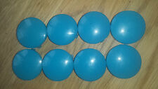 Mamas And Papas Wheel Caps x 8 Spare Parts Swirl Pushchair Stroller - Light Blue