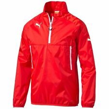Puma Men Sports Football Training Windbreaker Jacket Red White