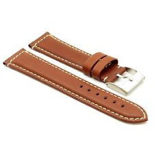StrapsCo Genuine Leather Premium Padded Leather Watch Band Strap Rust