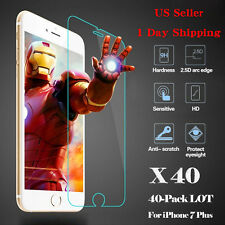 NEW 40x Wholesale Lot Tempered Glass Screen Protector Film for iPhone 7 Plus